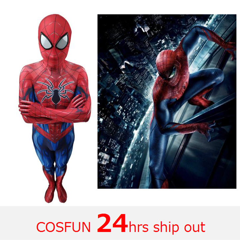 Avengers spiderman homecoming spiderman PS4 spiderman zentai suit jumpsuit for Halloween cosplay costume for kid and adult