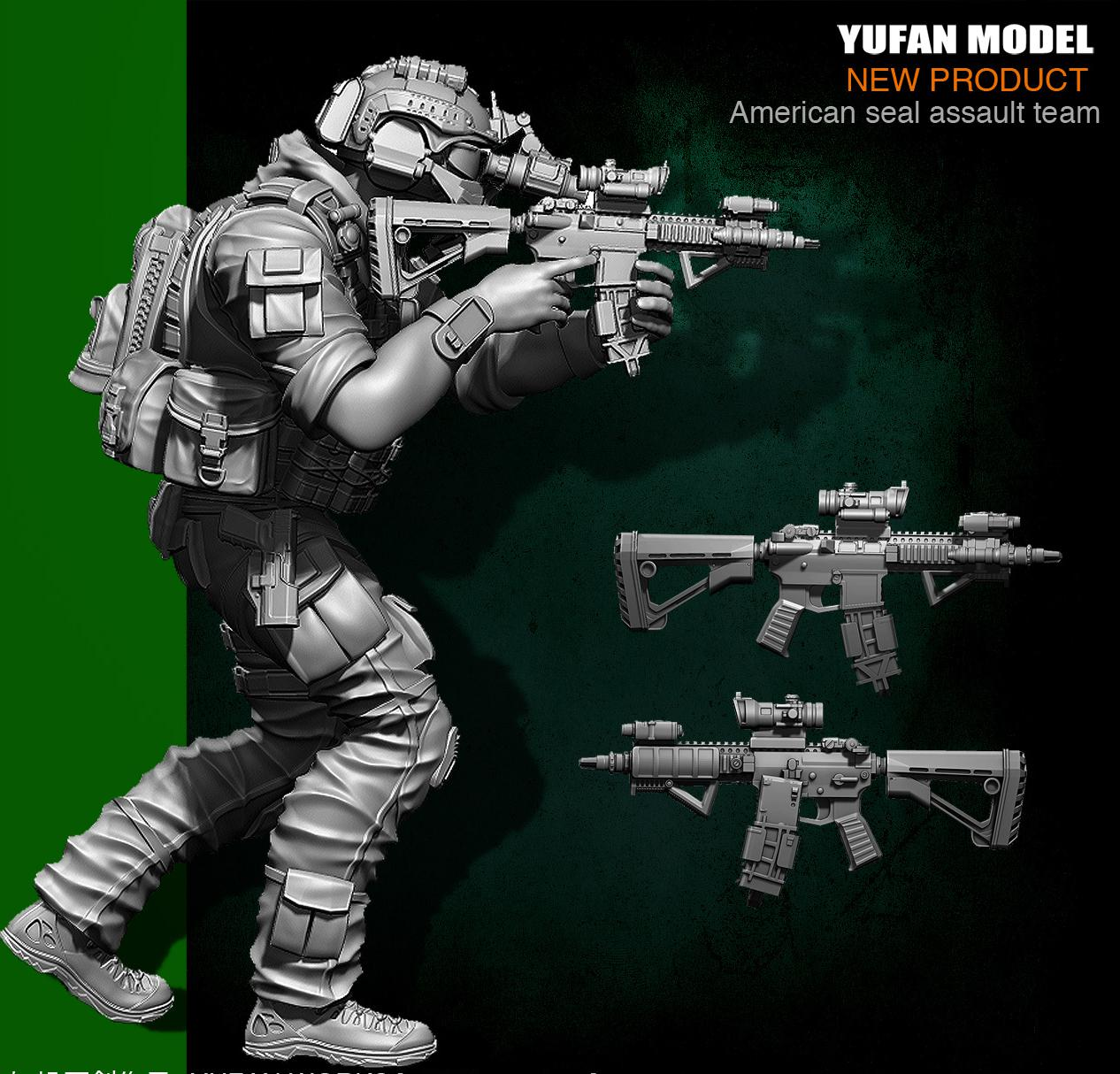Yufan Model  1/35 Resin Soldier Figura US Army Seal Six Model YFWW35-1823