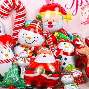 1 pièces joyeux noël ballons père noël bonhomme de neige arbre nouvel an noël ballons fête décoration maison noël fête décor 2020
