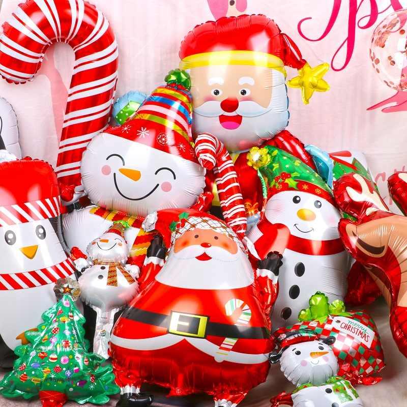 1 шт. веселые рождественские воздушные шары Санта Клаус Снеговик новогодняя елка Рождественские Праздничные украшения из шаров домашние рождественские вечерние украшения 2020