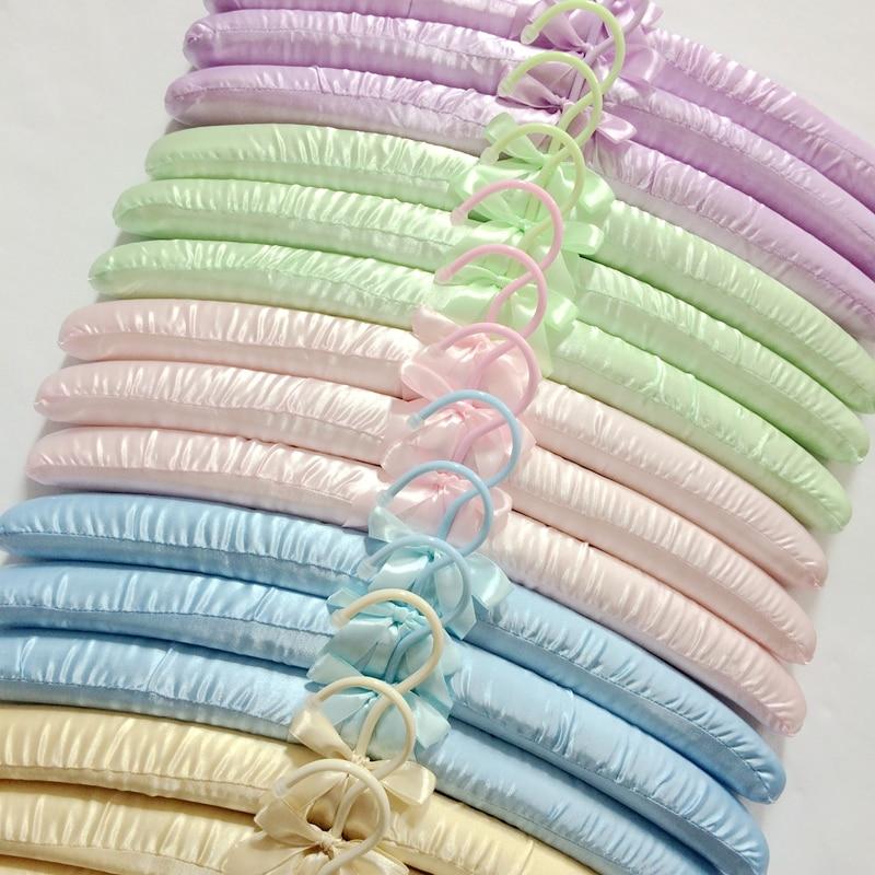 5 stks / partij 40 cm zijden doek hanger stof kleding spons rekken - Home opslag en organisatie - Foto 1