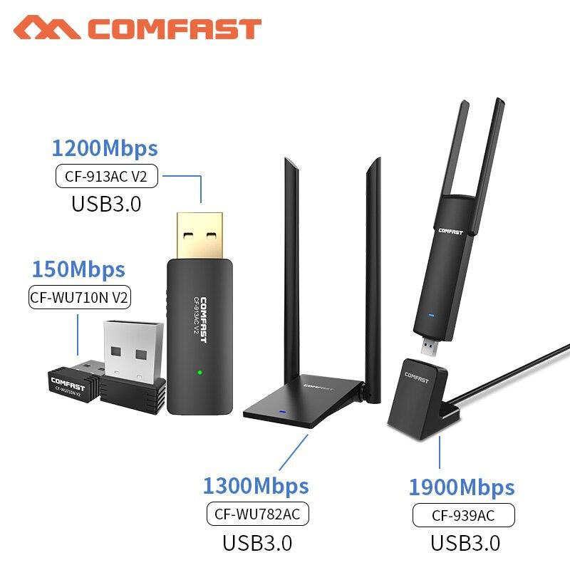 Computer & Büro Sonderabschnitt Usb Fern Wifi Adapter 150mbps-1900 Mbps Usb Wireless Adapter Wifi 802.11ac/b/g/n Wifi Empfänger Wi-fi Antennen Karte