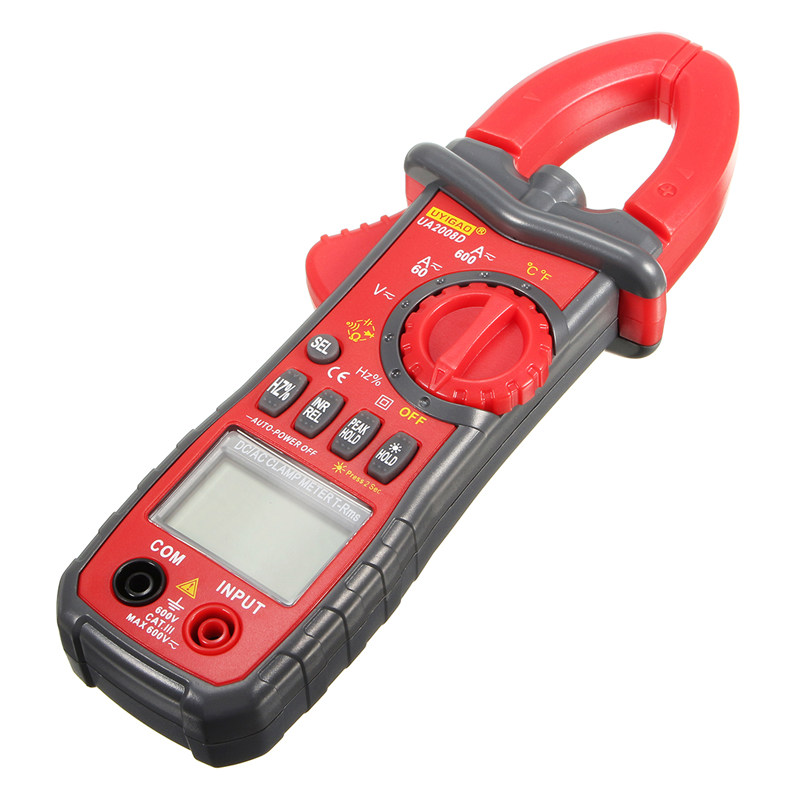 UA2008D Handheld Dual Open Digital Clamp Multimeter AC DC Current Test Probes CapacitanceTemperature Measurement Auto Range my68 handheld auto range digital multimeter dmm w capacitance frequency