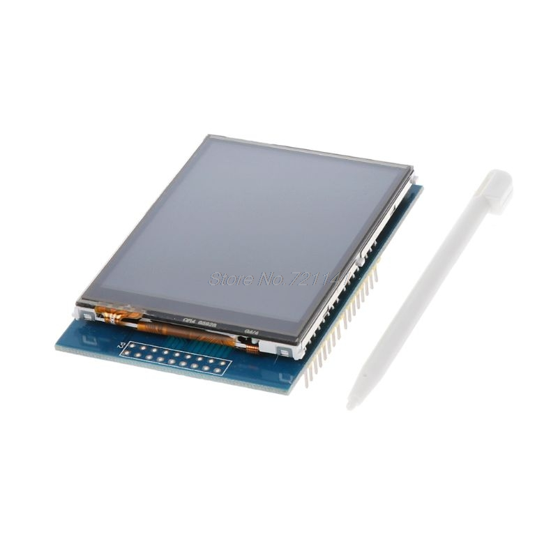 <font><b>2.8</b></font> <font><b>Inch</b></font> 3.3V 300mA <font><b>TFT</b></font> <font><b>LCD</b></font> Shield Touch Display Module For UNO With Resistive Touch Panel DIY Kit 240x320 image