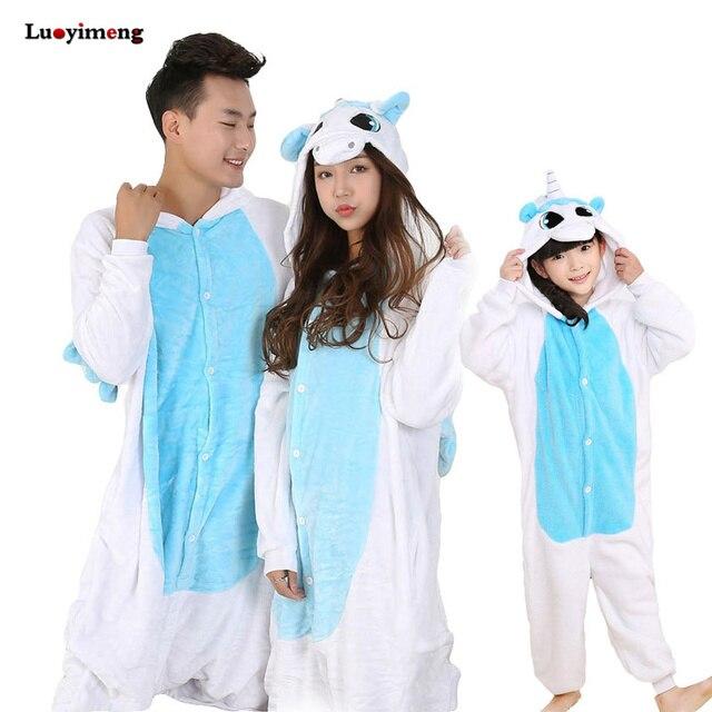 Unisex Pyjamas Kids Pijama Infantil Stitch Pajama Set Winter Anime Onesie Cartoon Unicorn Kigurumi Sleepwear Baby Girl Clothes