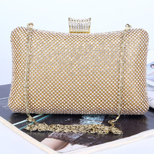 ONEFULL new evening handbag clutch simulated diamonds handmade handbag night club evening party handbag 2018vintage evening clutch with luxury diamonds evening handbag with detachable chain unique design for a variety of occasions