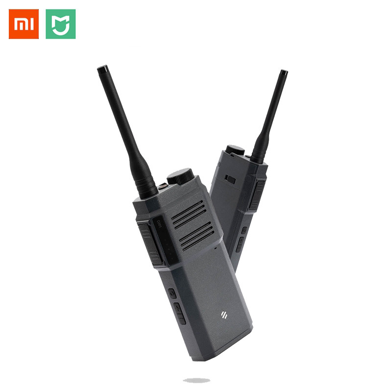 Xiaomi BeeBest Digital Handheld Walkie Talkie Inteligent Two Way Audio 10 Hours Working Time Bluetooth Headset APP Control H20 xiaomi mjdjj01fy bluetooth 4 0 radio two way walkie talkie white
