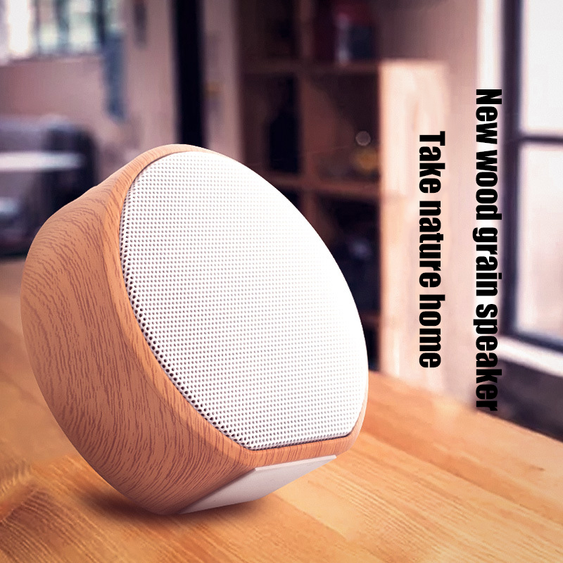 Image 3 - Wood Grain Bluetooth Speaker Portable Outdoor Wireless Mini Bluetooth Sound Box Support AUX TF Card For iPhone Huawei Xiaomi-in Portable Speakers from Consumer Electronics