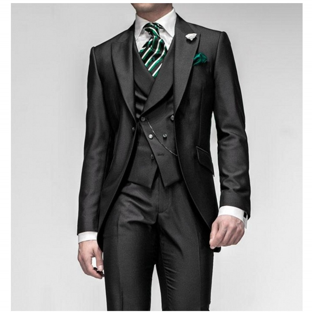 Free shipping Western Style Male Suits Men Wedding Suits Peaked ...