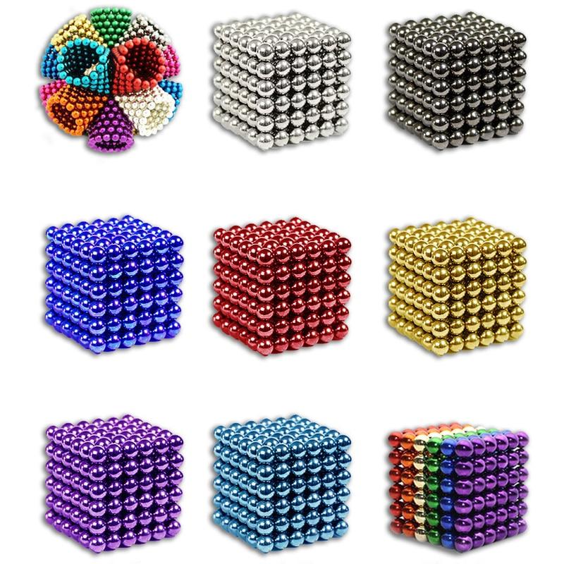216 piezas 5mm rompecabezas Buck bolas regalo descompresión de juguete de neodimio no-magnético de construcción de Juguetes
