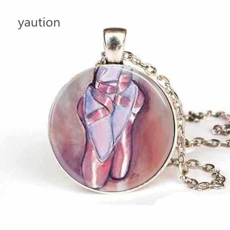 Ballerina Vòng Cổ Dép Đi Trong Nhà Ballet Nhảy Múa Giày Necklace phụ nữ người đàn ông Nhảy Múa Ba Lê đồ trang sức chain necklaces charm