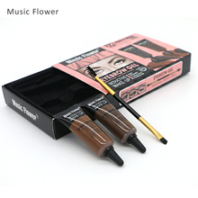 Music Flower 2 Color Eyebrow Enhancers Seductive Waterproof Eye Brow Gel With Double End Brush Long Lasting Eyes Makeup Set Kit