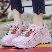 VTOTA Women Chunky Sneakers Platform Spring Shoes Woman Casual Footwear Dames Dad 2019 White Walking Trainers Basket Femme