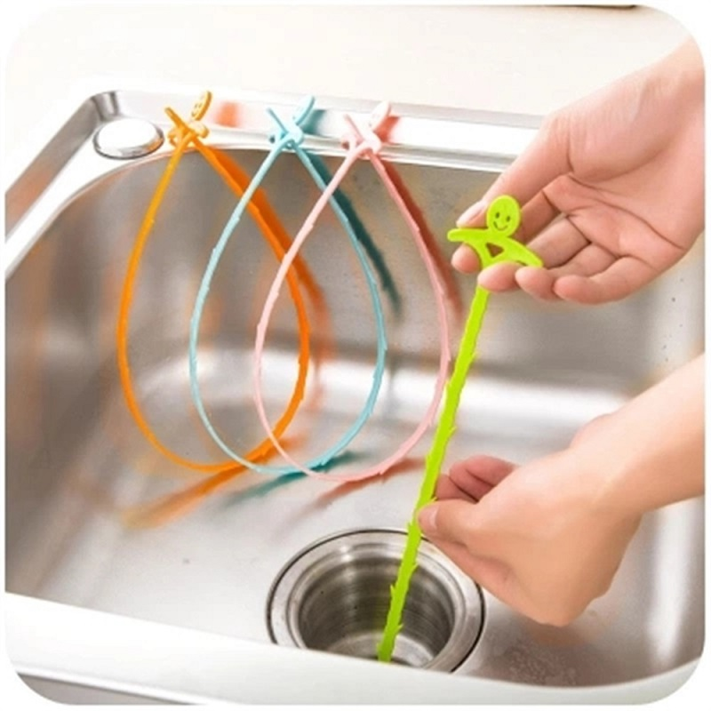 1pc Plastic Hook Kitchen Bathroom Sink Pipe Drain Cleaner Pipeline Hair Cleaning Removal Shower Toilet Sewer Clog 51CM Long Line