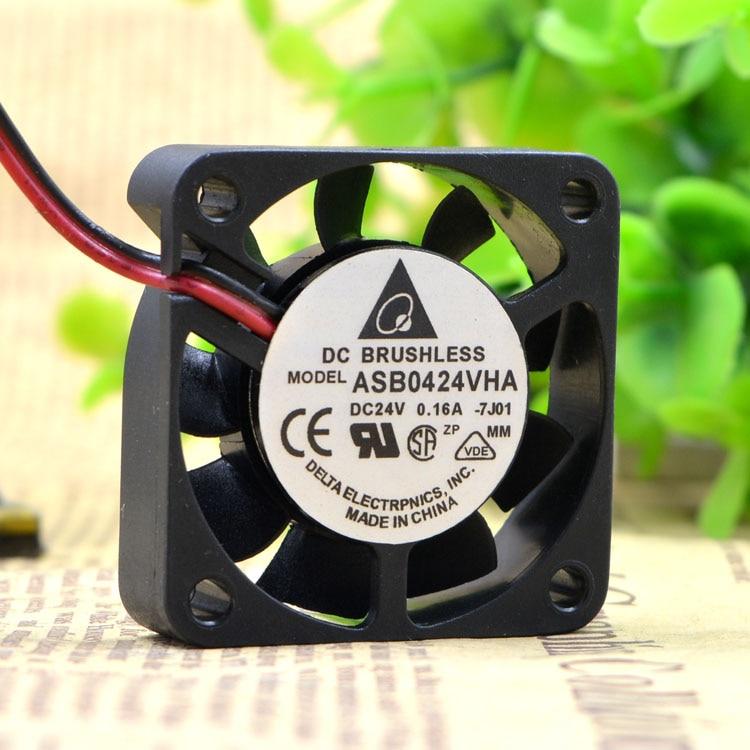 Delta Electronics ASB0424VHA Server Square Fan DC 24V 0.16A 40X40X10mm 2-wire