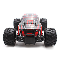 Electric RC Car 1:16 Scale Model 4WD Off Road High Speed Remote Control Car Four Wheel Independent Children Car Red and Black