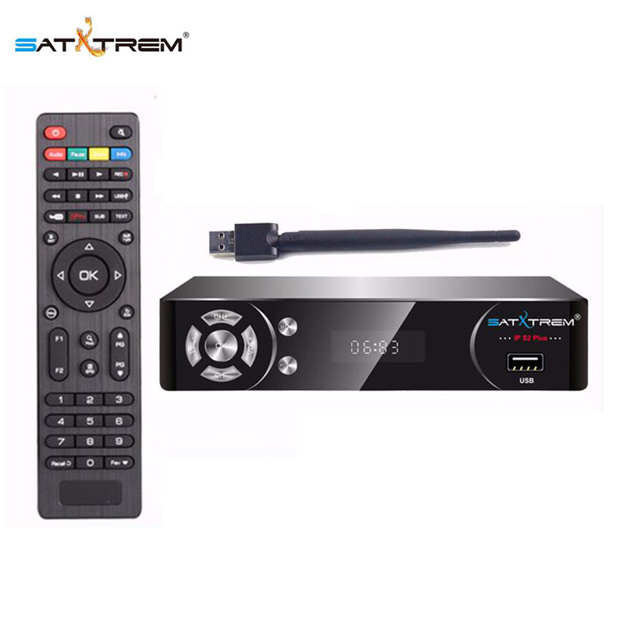 Satxtrem IP S2 Plus TV Receptor With USB Wifi Freesat Digital DVB S2 Full HD 1080P