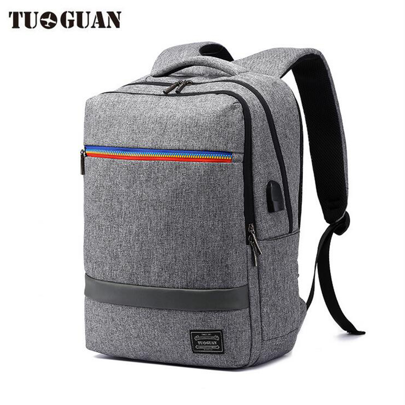 17inch Laptop Notebook Backpack with usb Charge port Men's anti-theft Computer Bag Travel Nylon Backpacks Business Bag 14 15 15 6 inch flax linen laptop notebook backpack bags case school backpack for travel shopping climbing men women