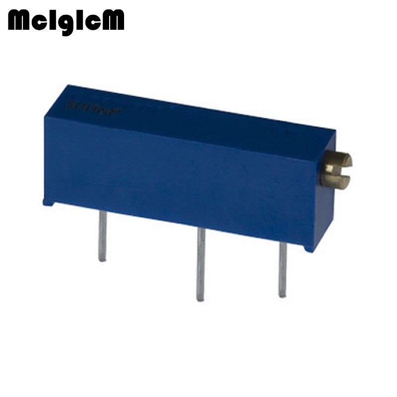 MCIGICM 500pcs 3006P 501 103 204 105 Trimpot Trimmer Potentiometer 100 200 500 ohm 1k 2k