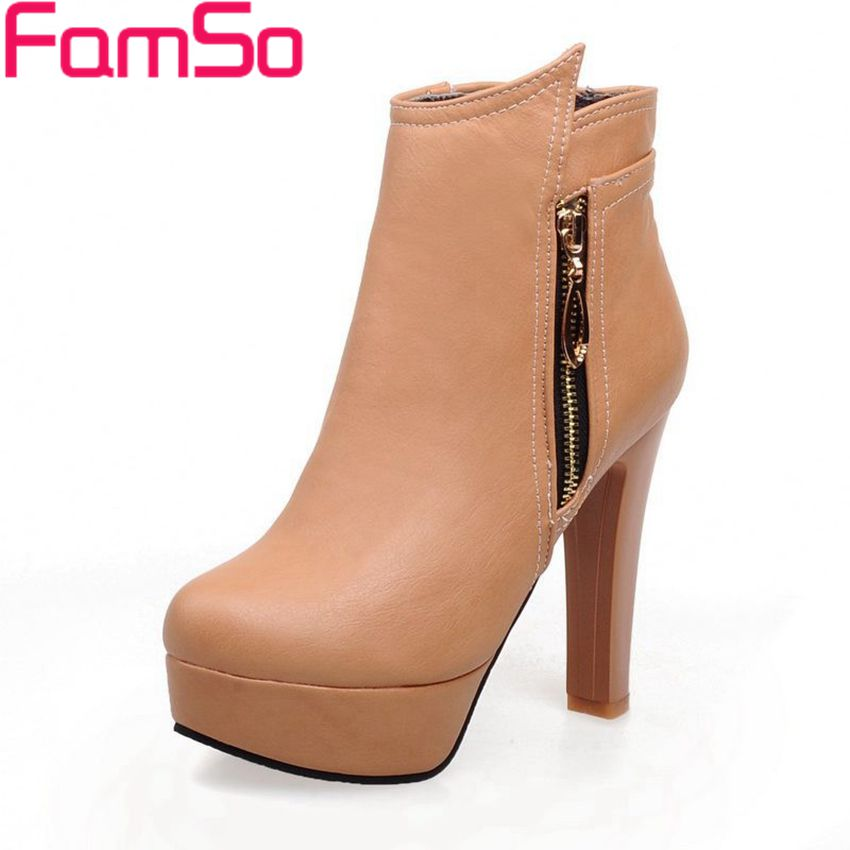 Plus Size34 43 2016 new Sexy font b Women b font High Heels Ankle Boots Platforms