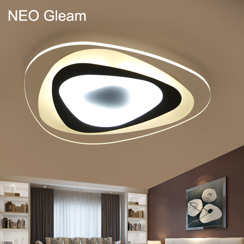 Ultra-thin Acrylic Modern led ceiling lights for living room bedroom Plafon home Lighting ceiling lamp home lighting fixtures ultra thin 5cm wooden acrylic led ceiling lights for living dining room home lighting 60w 96w modern large ceiling lamp fixture