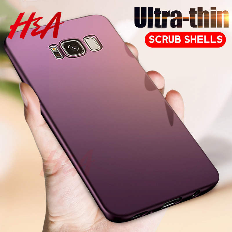 H&A Fashion Hard Matte Cases For Samsung Galaxy S7 S6 edge Case Note 8 360 Full Cover Pc for Samsung Galaxy S8 Plus S7 S6 Case