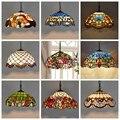 Tiffany Barock Glasmalerei Ausgesetzt Leuchte E27 LED Eisen Kette Anhänger Licht Beleuchtung Lampe für Home Parlor Esszimmer-in Pendelleuchten aus Licht & Beleuchtung bei