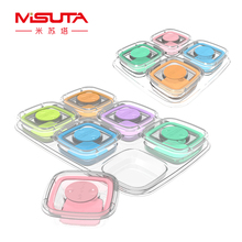 60ML 6Pcs/120ML 4Pcs Portable Baby Food Storage Snack Box Milk Powder