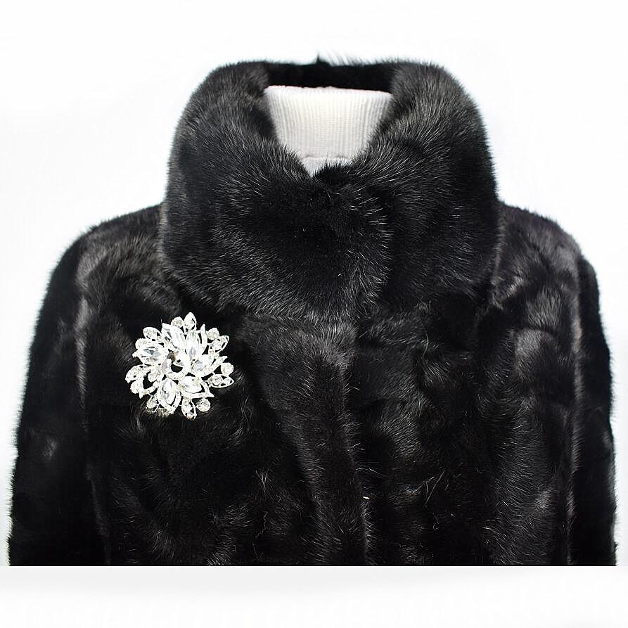 Vison 2018 Naturel Chaud Européenne En Fourrure Véritable Vêtements Black L'eau De Automne Veste Hiver Rue Nouveau Mince Dames St Mode Et FrrAt