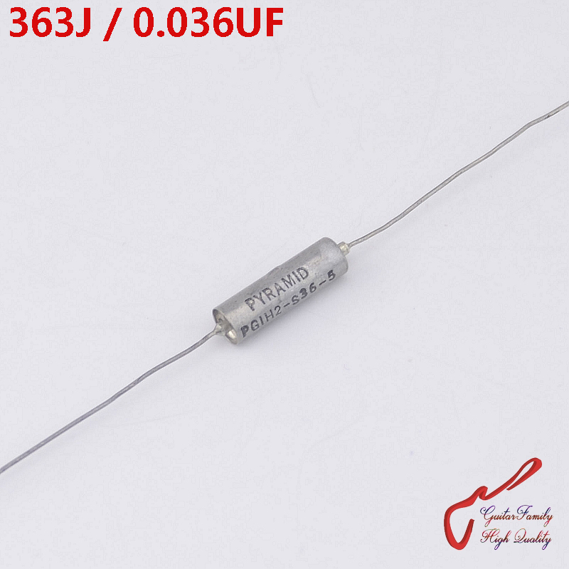 1 Piece USA Pyramid 363J  0.036UF 200V Tone Oil Capacitor  ( Paper In Oil Capacitor  ) For Electric Guitar Bass MADE IN USA
