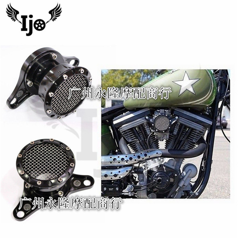 retro filtro air moto motorcycle for harley accessories Davidson hyosung softail sportster XL883 1200 48 72 air filter cleaner cnc black air filter motorcycle intake filter system kit air cleaner for harley sportster xl883 xl1200 1991 1992 1993 2016 2015
