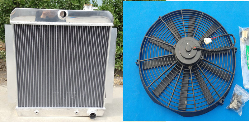 "16/""FAN 3 ROW for 1955-1959 CHEVY PICKUP TRUCK Aluminum Radiator 1956 1957 1958"