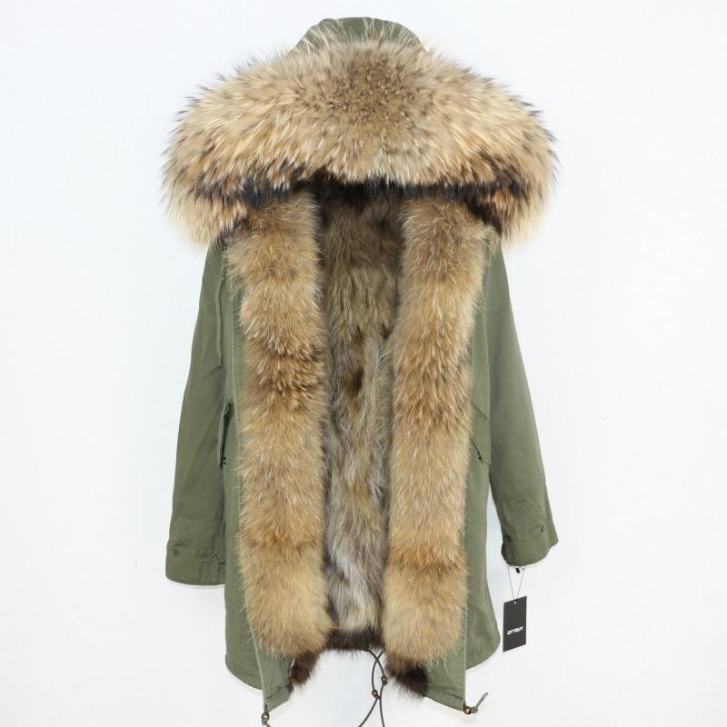 OFTBUY 2019 Winter Jacket Women Long Parka Real Fox Fur Coat Natural Raccoon Fur Collar Hood Thick Warm Streetwear Parkas New 65