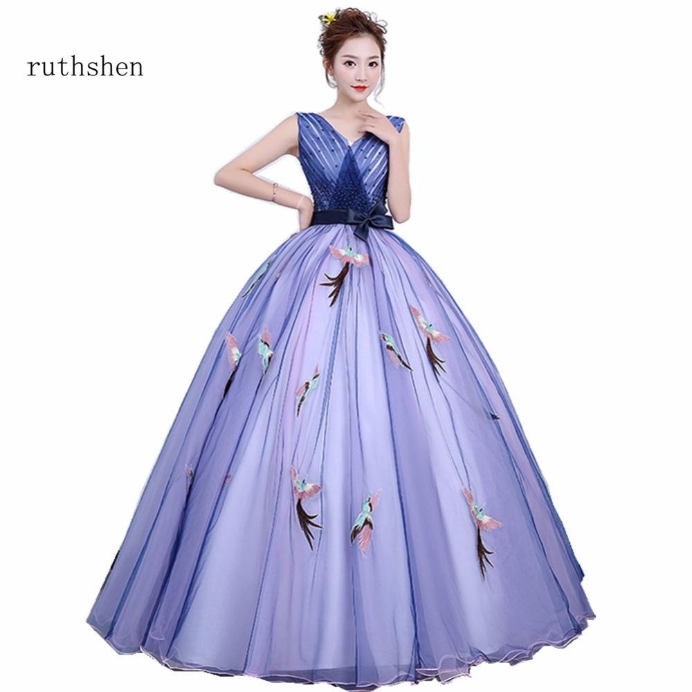 Detail Feedback Questions about ruthshen Purple Quinceanera Dresses Sexy V  Neck beaded ruffles Sweet 16 Masquerade Ball Gowns Cheap Debutante Prom  Dress on ... 60c429830c60