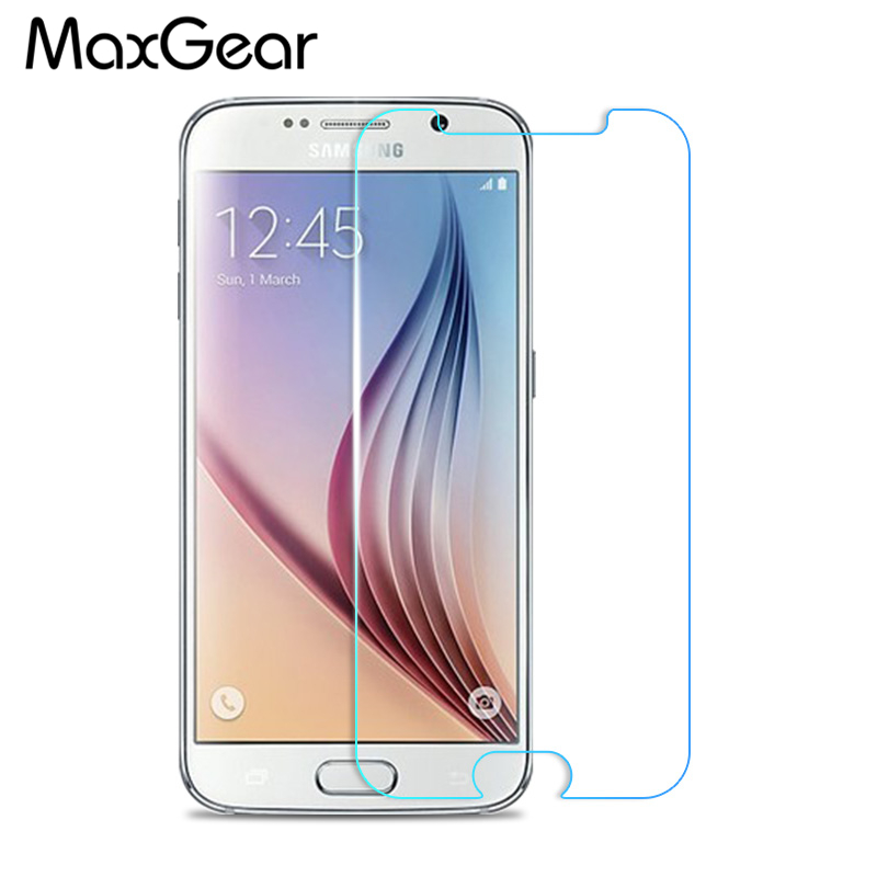 Retail For Samsung Galaxy S6 Tempered Glass Screen Protector  0.3mm 2.5D Curved Edge Film S6 flat Screen Guard Shiled