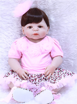 57cm dollmai Bebe Reborn Dolls Realistic Full Silicone Baby Doll In Cute Soft Plush Clothes Alive Baby Dolls As Girls Playmate