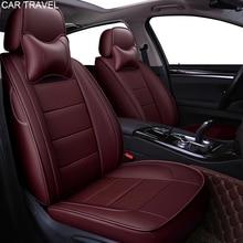 Housse de siège de voiture en cuir véritable pour Peugeot 407 308sw 607 307CC 3008 206CC 307SW 4008 accessoires auto de protection de sièges de voiture