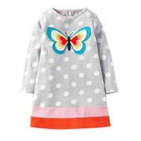 Manches longues licorne robe bébé filles vêtements 2018 marque hiver enfants robes pour filles Animal Applique princesse robe de noël