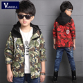 2016 autumn winter fashion coat adicolo boys 4-13 years old children cotton print letters camouflage coat stitching