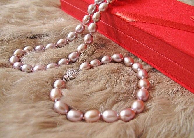 Bracelet-Set Necklace Jewelry Pearl Earrings 925-Silver Fashion Free Nice 8-9MM Stud