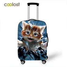Kawaii Kitten Cat High Elastic Luggage Protective Cover Suitcase Cover for 18-28 Inch Luggage Fashion Baggage Travel Accessories(China)