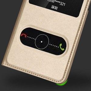 Image 2 - FDCWTS עבור Huawei P8 לייט 2017 קייס הכבוד 8 Lite כיסוי Flip חלון יוקרה ארנק חזרה כיסוי טלפון כיסוי עור לכבוד 8 לייט