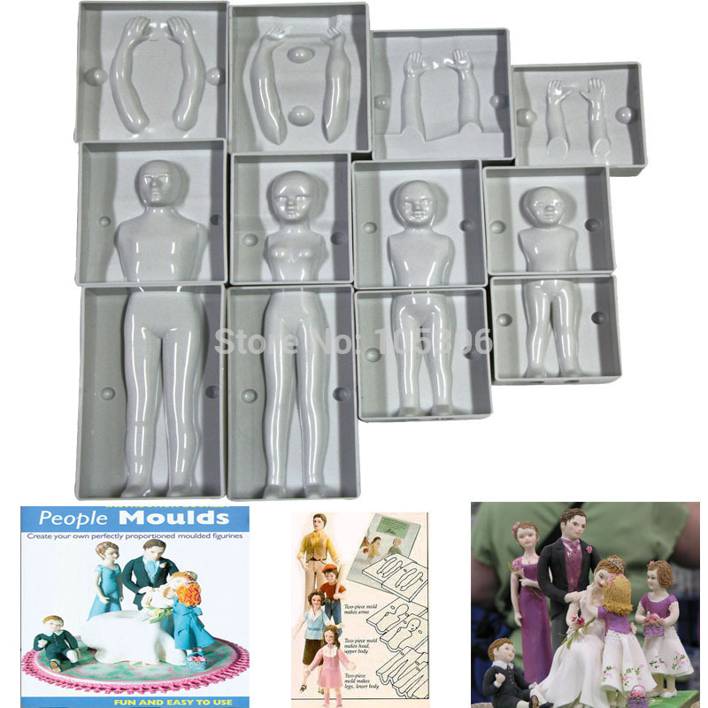 Aliexpress Com Buy Fondant 3d People Cake Molds Family