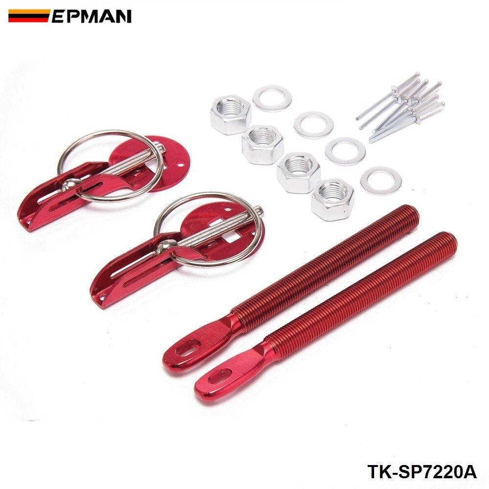 Спортивный EPMAN Универсальный легкий гоночный спортивный Серебряный алюминиевый колпачок для Ford Mustang 01-04 TK-SP7220A - Цвет: Красный