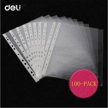 Гастроном 100 шт. прозрачный ПВХ подвеска файлы 11 Отверстия для офиса и школы для хранения бумаги, журнал, отчет ноты Организатор