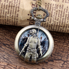 PLAYERUNKNOWN'S BATTLEGROUNDS l'URSS militaire Sniper Pocket Watch pour les enfants Casket Watches pour les hommes et les femmes dames filles