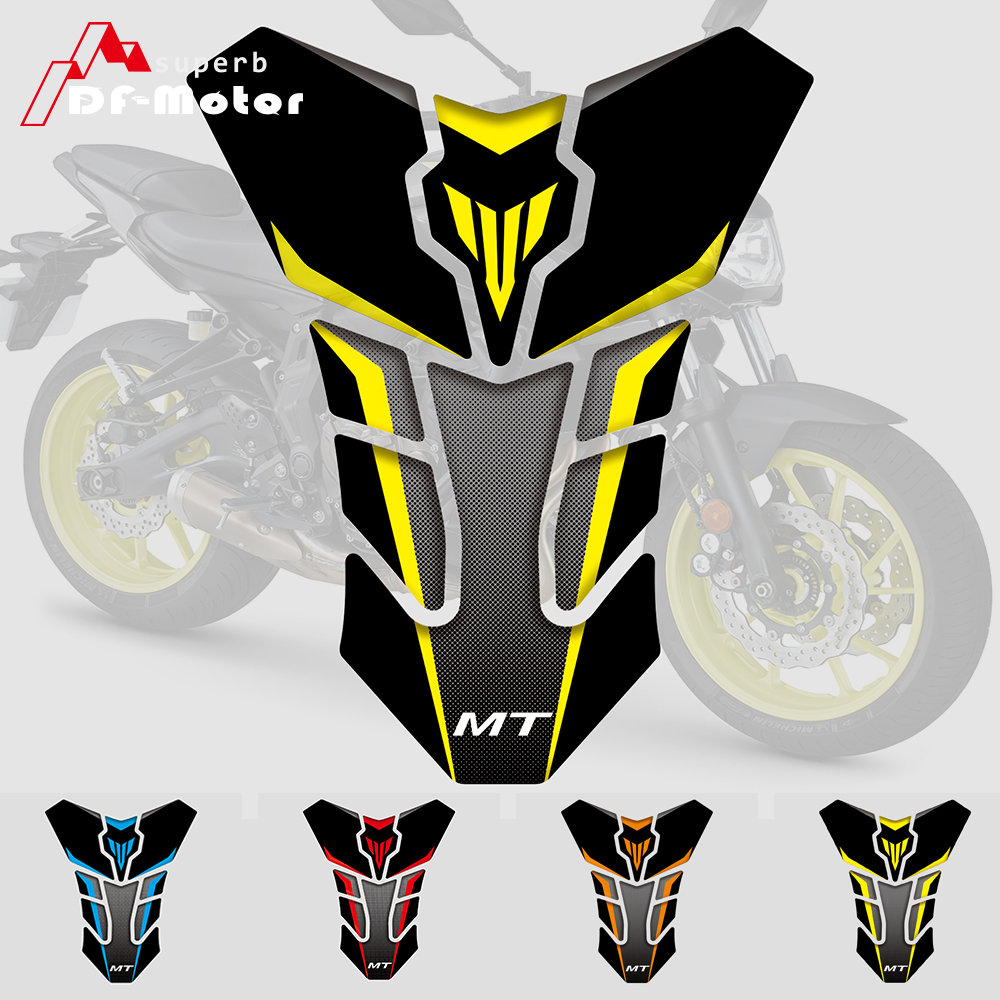 TANK PAD For YAMAHA MT-03 MT-07 FZ-07 MT-09 FZ-09 MT-10 3D Reflective TANK PROTECTOR Gas Cap Pad Filler Protector Decal