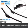 "Wiper blades for Mazda 6 (2008-2012) 24""+16"" fit standard J hook wiper arms only HY-002"