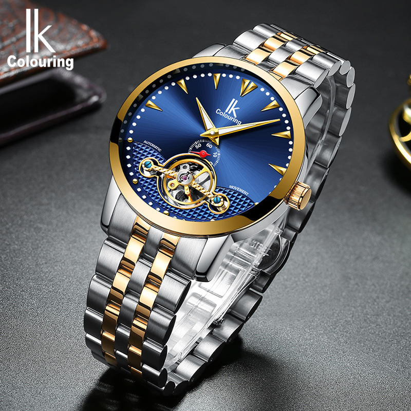 IK  Skeleton Tourbillon Mechanical Watch Mens Fashion Waterproof Full First Brand Mens Business Watch Steel Watch Mens WIK  Skeleton Tourbillon Mechanical Watch Mens Fashion Waterproof Full First Brand Mens Business Watch Steel Watch Mens W