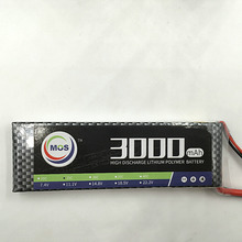 MOS 2S lipo battery 7.4v 3000mAh 25C For rc helicopter rc car rc boat quadcopter Li-Polymer battey